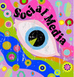 retro style social media illustration, grungy, vector