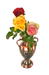 Three roses  in vase