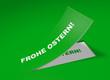 3D Etikett Grün - Frohe Ostern!