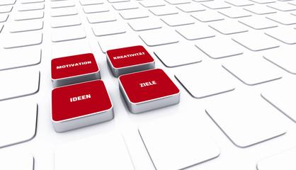 Pad Konzept Rot - Motivation Kreativität Ideen Ziele 3