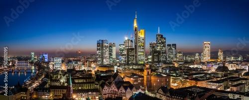 canvas print picture Frankfurt Cityscape