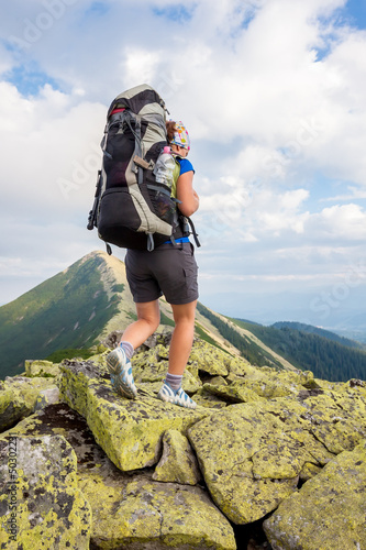 Hiking in Carpathian mountains