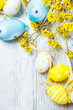 Easter colorful eggs decoration