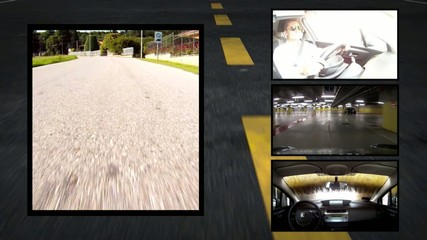 by car, collage