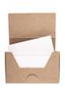 Cardboard business card box