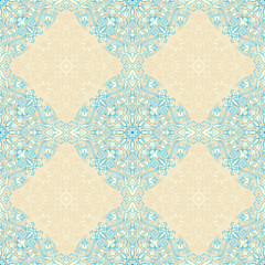 vintage beige and blue pattern