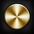 golden knob on black metal background - 50303213