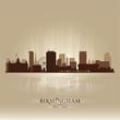 Birmingham England skyline city silhouette