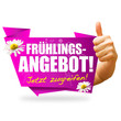 Frühlingsangebot! Button, Icon