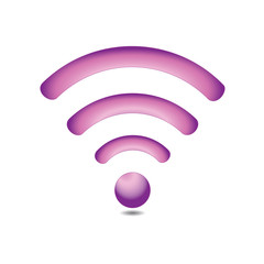 Wireless network symbol (pink)