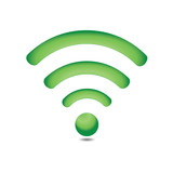 Green wireless network symbol