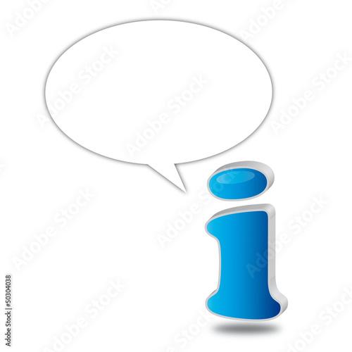 Information info icon blau