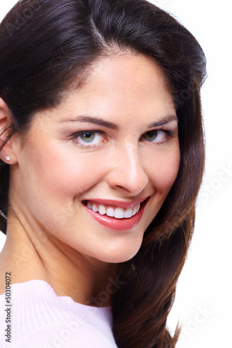 Beautiful woman smile.