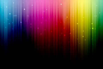 Abstract Digital Rainbow Background