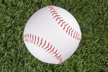 Baseball ball top view
