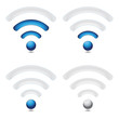 Wireless signal levels (blue)