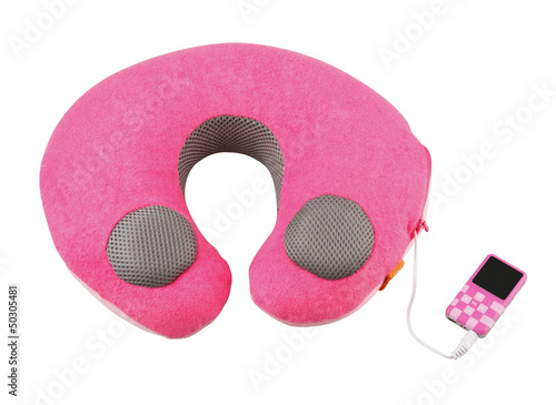 Neck pillow with the MP3 player