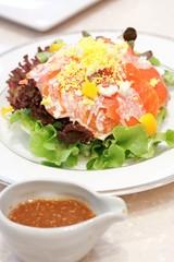 Smoke salmon salad