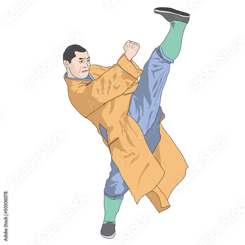 Illustration of Shaolin master