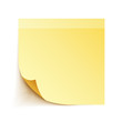 Yellow Stick Note Paper