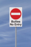 Anti-Bullying Road Sign poster