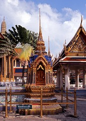 Shrine, Grand Palace, Bangkok, Thailand.