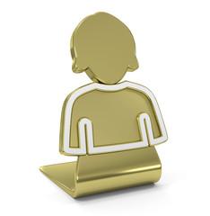 User (girl) Golden Icon
