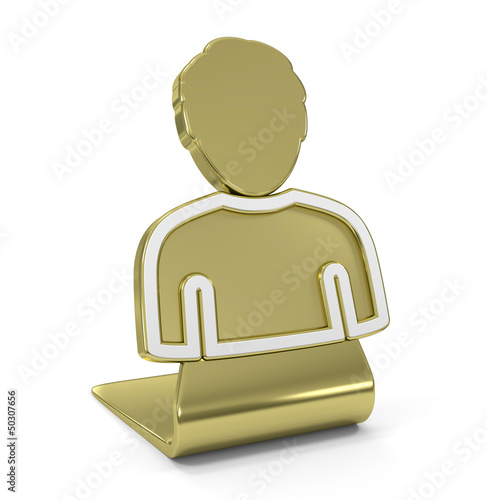 User Golden Icon