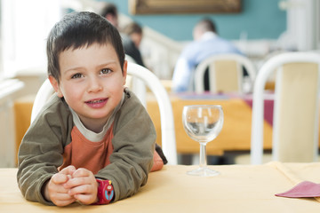 Child at restaurant