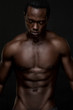 Atheletic African American Man Topless