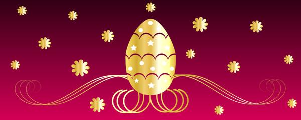 Fondo fucsia con uovo di Pasqua