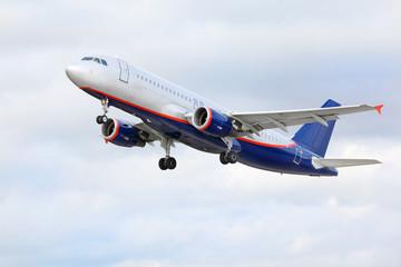Airbus Aeroflot flies in sky