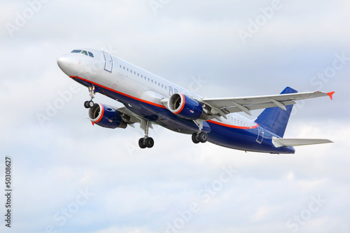 Airbus Aeroflot flies in sky