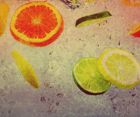 fruit on textured background