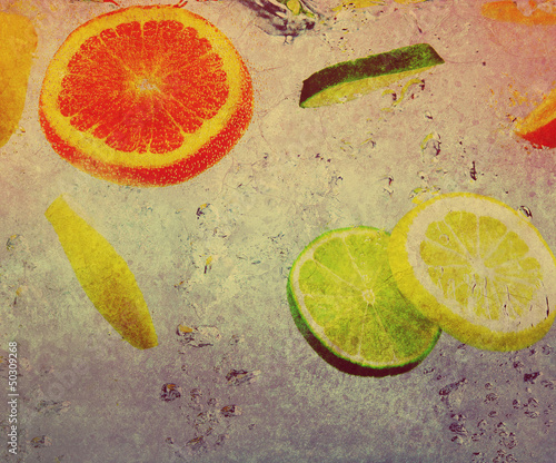 fruit on textured background