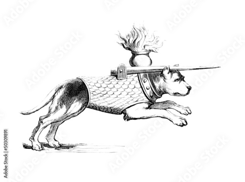 Medieval Warrior-Dog - Chien de Combat - 14th century