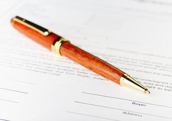 Buyer field. The signature concept. Beautiful pen