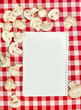 Blank recipes book