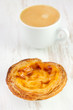 portuguese sweets with cup of coffee