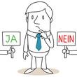 Geschäftsmann, Entscheidung, Ja oder Nein