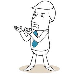 Geschäftsmann, aggressiv, wütend, verzweifelt