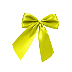 Gelbe Bandschleife
