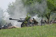 WWII reenactment. German cannon