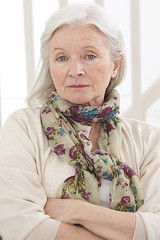 Portrait d'une femme senior