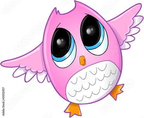 Cute Owl Vector Art