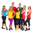 Group of people in fitness wear