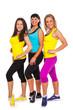 Beautiful happy women in fitness wear