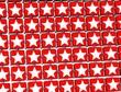 3D Red Stars Sign blocks