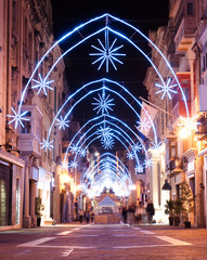 Christmas Decoration In Valletta, Malta