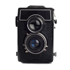 Old Lomo camera isolated on white background